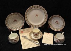 White Star Line china - what the 1st class diners ate from on the Titanic.