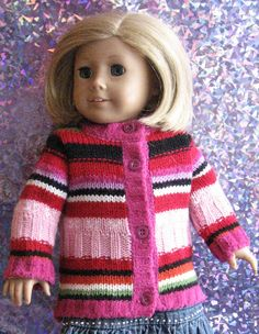 A Doll for all Seasons: How to recycle a baby sweater for your American Girl Doll, Journey Girl, Gotz, Madame Alexander etc. Sewing Doll Clothes, Sewing Dolls, Girl Doll Clothes, Doll Clothes Patterns, Doll Patterns, Girl Dolls, Ag Dolls, Sewing Patterns, Sewing Stitches
