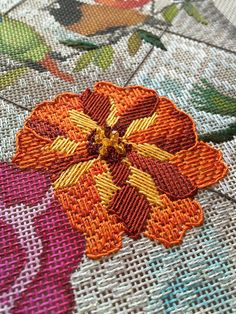 """""""The challenge with a canvas that has so many small spaces and beautiful details is how to make it come to life in stitches without making it look flat or like a sampler. We certainly don't want it to look less pretty stitched than it did as a painted canvas."""" ~It's not your Grandmother's Needlepoint"""
