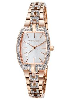 Women's Wrist Watches - Wittnauer Wn4018 Womens RoseTone Ss And Tonneau Case White Mop Dial Crystal Accent Watch *** More info could be found at the image url.