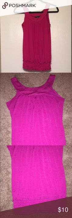 Magenta tank Magenta/pink tank! Great for work or going out. Fitted at the waist. Great condition! 🎀 Tops