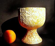 Vintage Mid Century Lemon Yellow Vase with by VintageHomeShop, $23.00