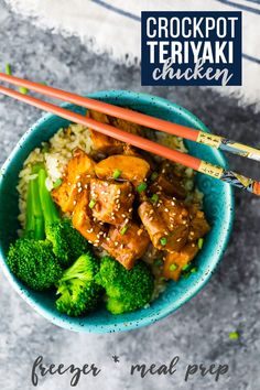 Crock pot teriyaki chicken recipe can be assembled ahead and frozen for easy weeknight dinners! Great as a meal prep recipe or weeknight dinner! #sweetpeasandsaffron #slowcooker #crockpot #mealprep #stirfry #chickenbreast #chickenthigh #chicken #dinner #lunch #recipe via @sweetpeasaffron Slow Cooker Desserts, Slow Cooker Recipes, Crockpot Recipes, Healthy Recipes, Cooking Recipes, Skinny Recipes, Healthy Eats, Easy Recipes, Chicken Teriyaki Recipe