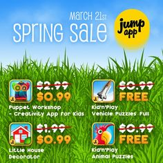 Spring sale! One day only (March 21).