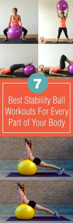 Stability ball is extremely effective in workouts. Here weve collected the best 7 exercises you can do with a stability ball to train every part of your body.