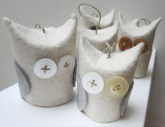 Owl ornaments....how cute on a Christmas Tree!