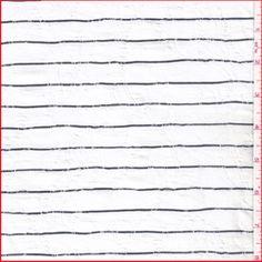 Ivory/Black Stripe Jacquard