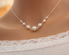 Pearl necklace Bridal wedding