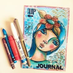 Collaborative Art Traveling Artjournal Pages ... by Andrea Gomoll