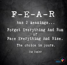 Fear from zig ziglar