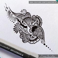 Another Easy Henna Mehndi Design by LinesInAir.deviantart.com on @deviantART
