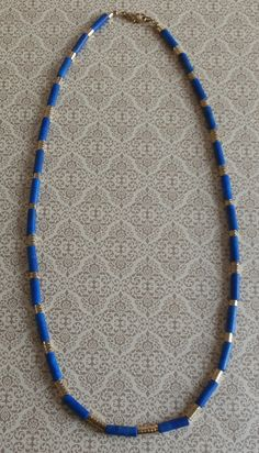 Vintage Lapis Necklace ~ Egyptian Minimalist Style ~ Boho Chic Tribal Jewelry ~ StarliteVintageGems ~ SOLD