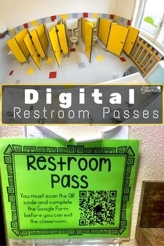 Digital Restroom Passes- love this idea for those kids who just have issues with the bathroom...