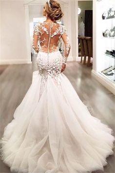 Sexy back wedding dress