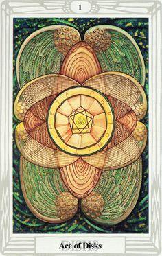 L'as d'écus - Tarot Thoth par Aleister Crowley