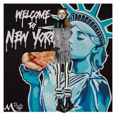 """""""Welcome to New York!"""" by diannecollier ❤ liked on Polyvore featuring art and polyvoreeditorial"""
