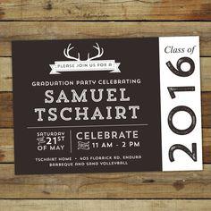 Boho Graduation Party Invitation  Boho Graduation Invitation
