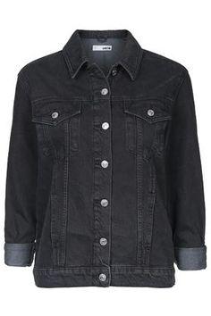 MOTO Washed Black Oversized Western Jacket