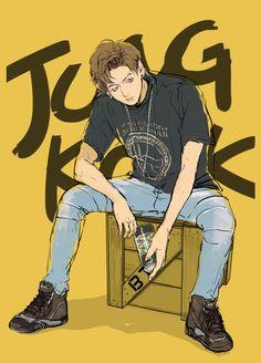 Trvalý odkaz na vložený obrázek Jungkook Fanart, Kpop Fanart, Bts Bangtan Boy, Bts Jimin, Jikook, Fandom, Game Concept Art, Fanarts Anime, Bts Drawings