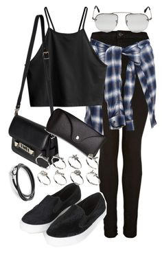 """Untitled #13076"" by florencia95 ❤ liked on Polyvore featuring Topshop, Miharayasuhiro, H&M, Prada, Proenza Schouler and ASOS"