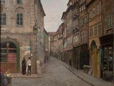 Jan Minařík: Old Prague, Czech - Urban Landscape, Landscape Art, Landscape Paintings, Prague Castle, Prague 1, Prague Czech, Cityscape Art, Old Town Square, Modern Landscaping