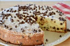 Traditional Italian Chocolate Chip Ricotta Cake is the perfect dessert or snacking cake to have on hand. Made with ricotta cheese and mini chocolate chips. Real Food Recipes, Baking Recipes, Cake Recipes, Dessert Recipes, Loaf Recipes, Italian Cake, Italian Desserts, Italian Recipes, Italian Foods