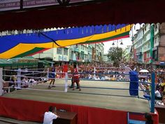 Open Boxing Championship is being held at MG Marg Gangtok in Sikkim - Huge crowd spotted   Photos by Rakesh Somani  Sikkim