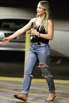 Hilary Duff - Out with her son
