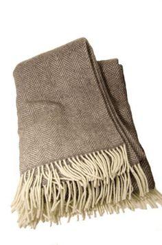 3103ee4f7d414 John Hanly Cashmere Merino Wool Grey Herringbone Blanket-Irish Made Price :  $206.95 http: