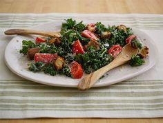 Festive Kale Caesar Salad.