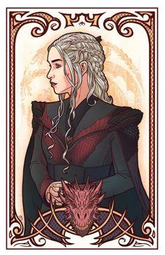Game of Thrones - Daenerys Targaryen by Andrew Sebastian Kwan Dessin Game Of Thrones, Arte Game Of Thrones, Game Of Thrones Artwork, Game Of Thrones Dragons, Got Dragons, Mother Of Dragons, Daenerys Targaryen Art, Khaleesi, Game Of Thones