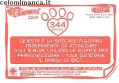 Amici Cucciolotti 2017: Retro Figurina n. 344 -