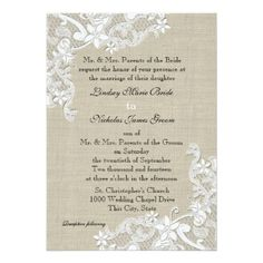 DealsVintage Burlap and Lace Wedding 5x7 Paper Invitation Cardso please read the important details before your purchasing anyway here is the best buy