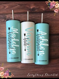 Bridesmaid gift, personalized tumbler, office present, gifts for Gifts For Wedding Party, Wedding Favors, Our Wedding, Wedding Ideas, Party Gifts, Dream Wedding, Party Favors, Wedding Stuff, Wedding Shit