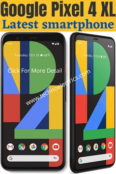 Google Pixel 4 XL is the series of the latest best smartphones found in  black with 128GB storage. It is available in an unlocked position. Just click it for the full detail. Best Smartphone, Android Smartphone, Latest Cell Phones, Newest Smartphones, Night Sights, Data Plan, Best Budget, Display Screen, Online Marketing