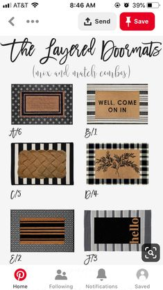 Vintage Home Layered Doormats - Mix and Match - Give your front door a stylish new look by simply adding a few layered door mats. Get all the inspiration you need to get the best layered mat combination. Front Door Steps, Front Door Rugs, Front Door Decor, Front Porch, Front Doors, Porch Mat, Porch Rugs, Outdoor Doors, Outdoor Spaces