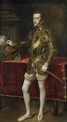 TIZIANO, ritratto di Filippo II, Napoli