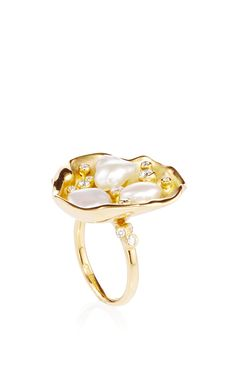 One of a Kind Large Santorini Ring by Amsterdam Sauer x Bianca Brandolini for Preorder on Moda Operandi