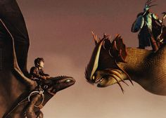 HTTYD2 Hiccup and the mysterious dragon rider...