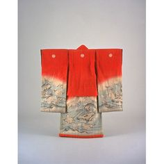 Girls Furisode (Long-Sleeved Kimono) with Chrysanthemums on Parti-colored Ground, Meiji Period, Kyoto National Museum