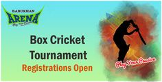 ‪#‎BoxCricketTournament‬  Registrations Open  Play Ur Passion http://www.hyderabadevents.com/event/Box-Cricket-Tournament-In-Hyderabad