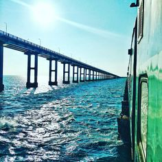 River bridge on sea at rameshvaram Pamban Bridge, Indian Railway Train, Train Tour, India Culture, Train Pictures, India Tour, Travel Tours, Train Tracks, India Travel