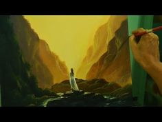 Acrylic Landscape Painting Lesson | Waiting in Step by Step Acrylic Tutorial by JM Lisondra - YouTube