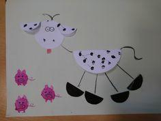 Krowa origami świnki z korka od wina Zwierzęta wiejskie DIY ART ACTIVITIES FOR KIDS Origami, Diy And Crafts, Snoopy, Education, Deco, Character, Montessori, Furniture, Infant Crafts