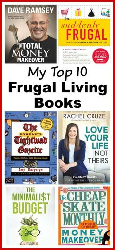 Top 10 Frugal Living Books You Need To Read! - Want to change your finances? These 10 frugal living books will help you get control of your money! These make great gifts for college students, teenagers, and anyone wanting to improve their finances! Financial planning books. Frugal living| money saving ideas| budgeting| living on a budget