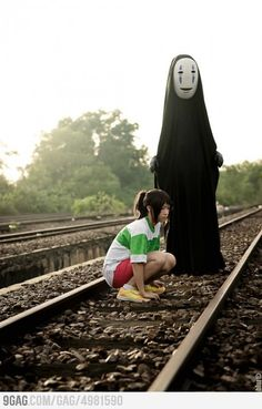Not many of you might know this movie, but this pictures is a cosplay picture of the main character and a friend of her in the japanese animated movie (ANIME) - Shihiro: Spirited Away.