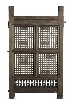Made of wood with dense fret work, this window comes from a home in #kerala.#ca19thCentury