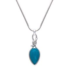 Bittersweet Barbed Wire Pear Shaped Turquoise Necklace (NC2136TQ)  $45.00