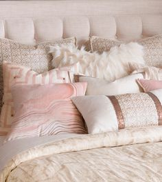 Halo – pink feminine bedding, faux fur bedding,glam bedding,contemporary,white a… – toptrendpin. Blush Bedroom, Pink Bedroom Decor, Glam Bedroom, Pink Bedrooms, Teen Girl Bedrooms, Cozy Bedroom, Bedroom Ideas, Bedroom Neutral, Girl Rooms