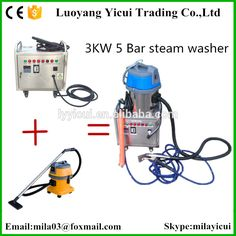 CE 2 guns 20 bar no boiler vapor steam jet car small washing machine